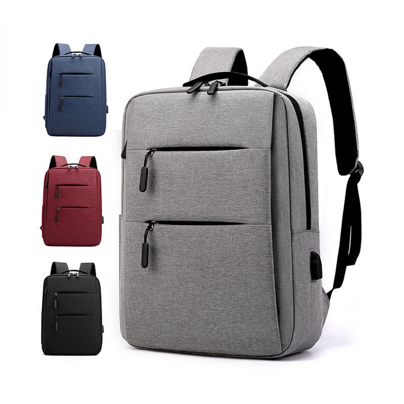 High Quality Promotion Mens Travel Safe Durable Business Laptop School Backbgs Gift Backpack With USB Charging Port