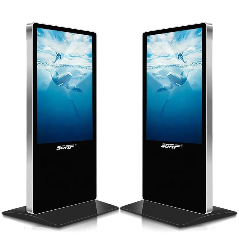 Factory price 40 ~100 Inch advertising Lcd ad player floor touch screen standing display stand