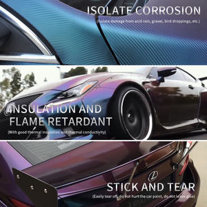 1.52*28m Stretchable Chameleon Glitter Vinyl Roll For Car Decoration Sticker