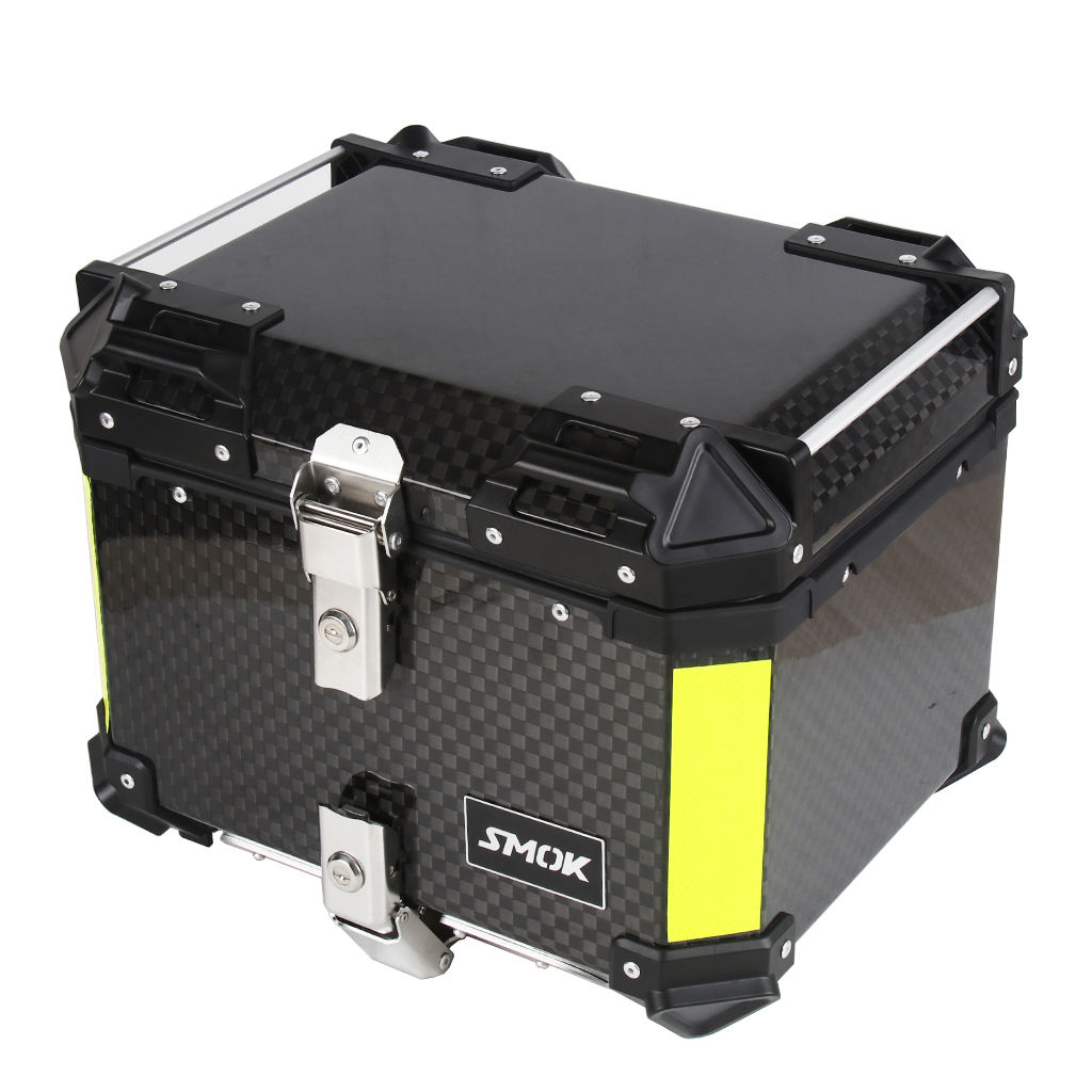 2020 45L SMOK Top box Motorcycle Rear Top Case carbon fiber 12K motorcycle aluminum Tail Box