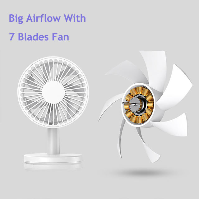 New technology 2020 home appliance standing folding retractable fans rechargeable fan
