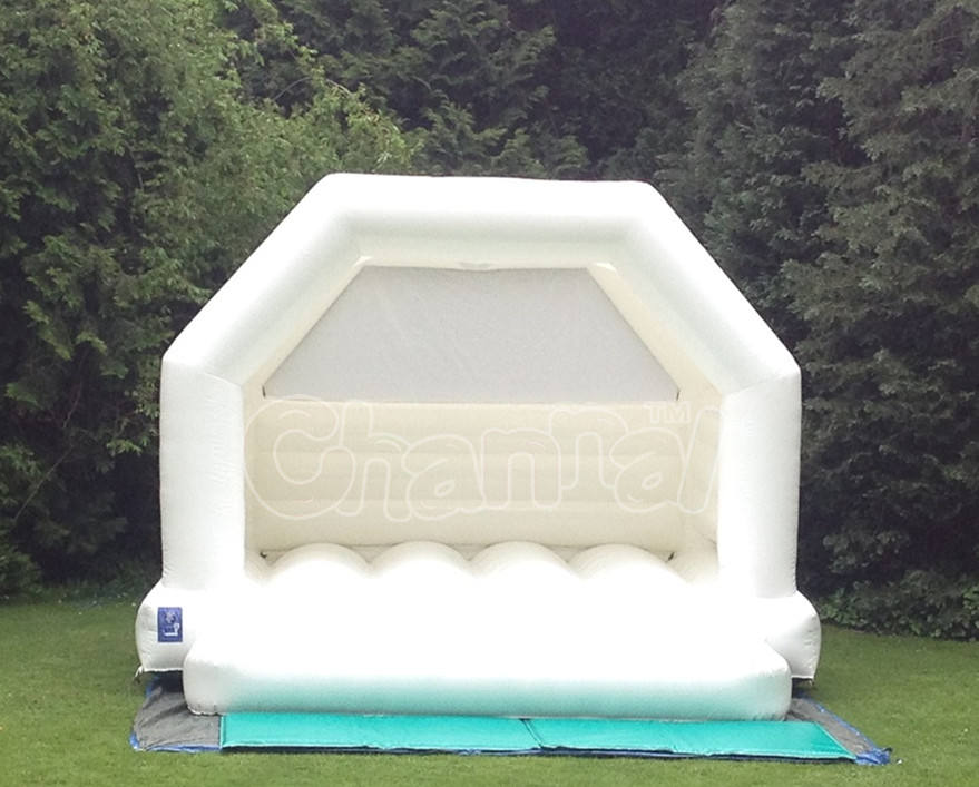 commercial Hot sale white wedding inflatable bouncy castle/moon bounce house/bridal bounce for wedding decorate