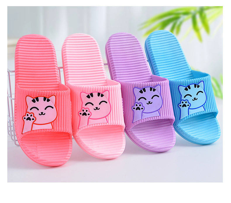 Summer Slippers For Women Indoor Nonslip Cartoon PVC Home Bathroom Couple Slippers