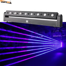 The Newest stage lighting LED 8 head blue fat beam laser diode module dj moving head laser light