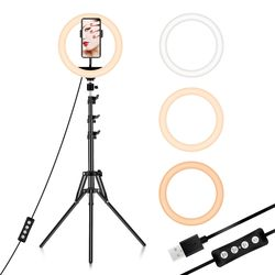 Wholesale Beauty 12 inch makeup Photographic Lighting tiktok selfie led video ring light with tripod stand