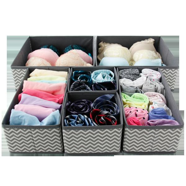 foldable Cloth box Closet Dresser Underwear divider Storage Drawers Organizer