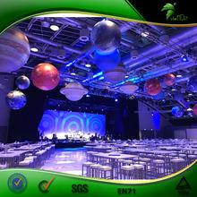Hot Sale Inflatable Planets Lighting For Decoration, LED Earth/ Moon Balloon, Solar System Nine Planets