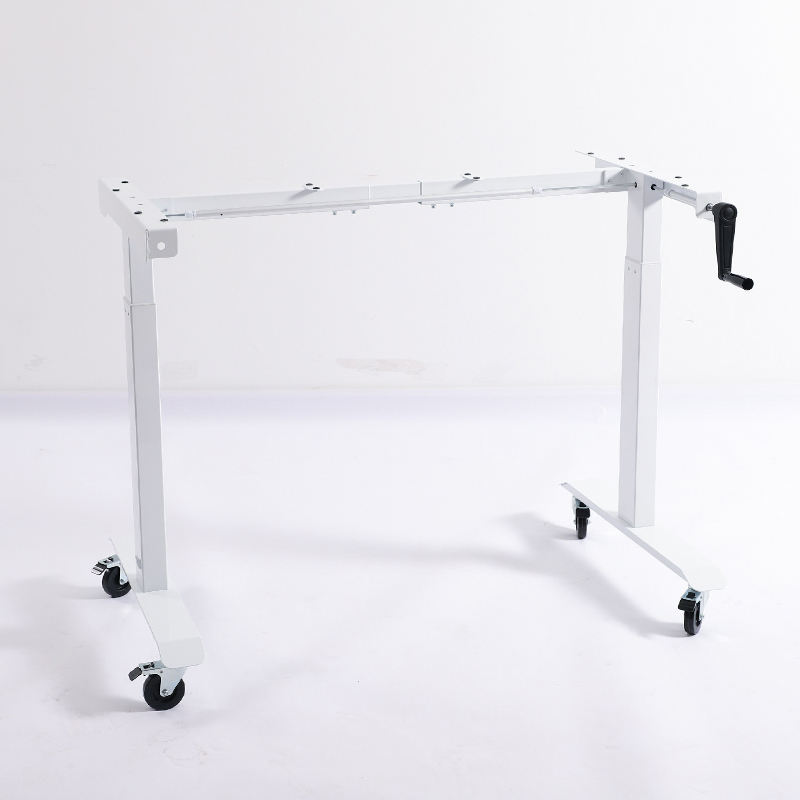 High quality manual adjustable metal table desk frame base