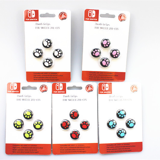 4 PCS Analog Grips Switch Silicone Thumb Stick Covers Cap for Nintendo Switch & Switch Lite