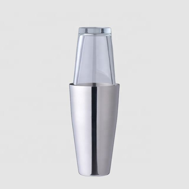 Factory Direct 800ml boston stainless steel cocktail shakers top pieces 28 oz