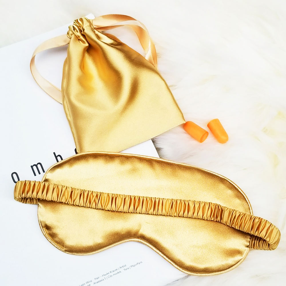 Custom wholesale travel natural mulberry blindfold silk gel cooling eye masks for sleeping