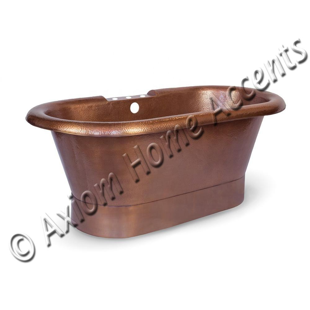 Cost Effective High Quality Copper Bathtub Freestanding Bathtub Cast iron Bathtub Hammered And Antique Finished