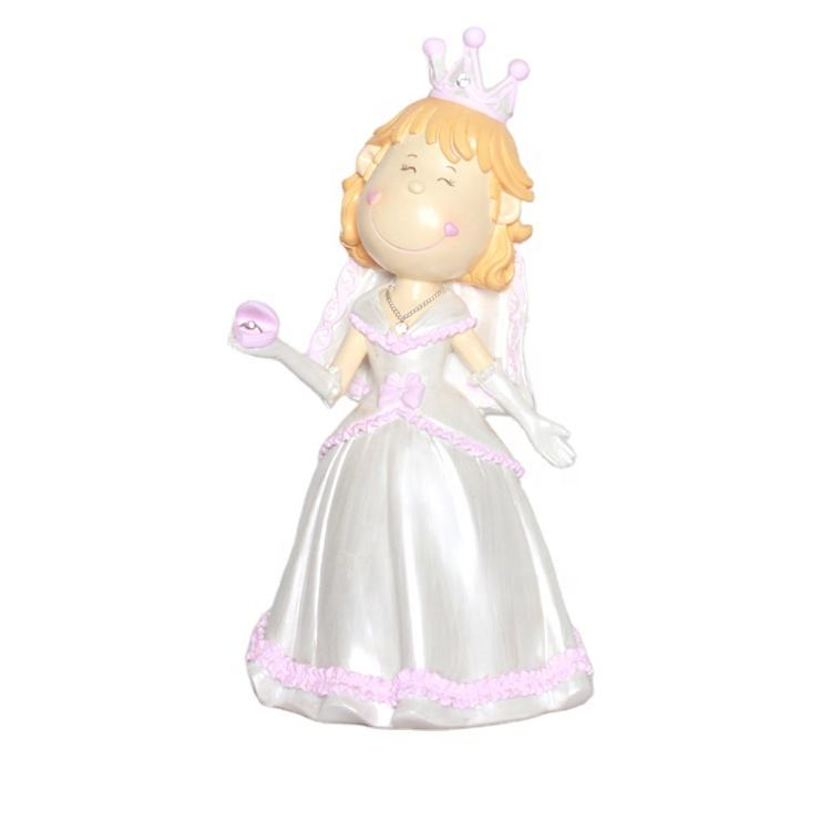 custom resin piggy bank cute princess girl money box