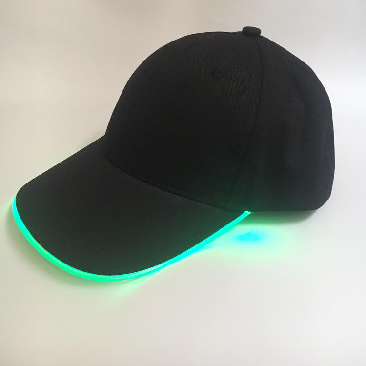 Custom 6 Panel Blank Baseball Caps With Led Lights