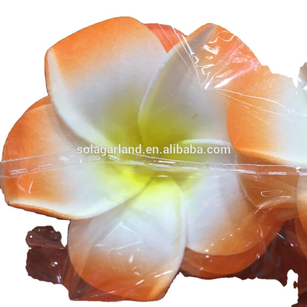 Wholesale Colors Artificial FoamFlower Plumeria Frangipani Flowers Wedding Hawaiian Party Decorations 4/5/6/7CM