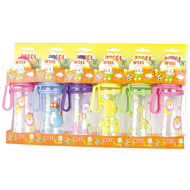 6pcs 240ml PP/PC BPA free baby feeding bottle, baby feeding set