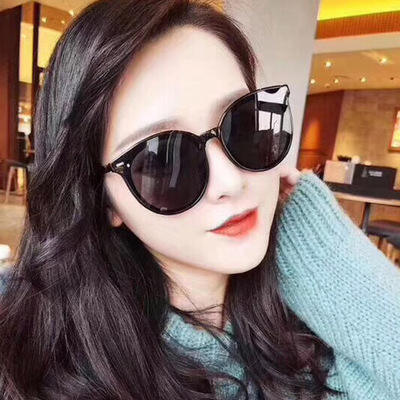 Web celebrity trendy sunglasses TikTok glasses round frame rice nail sunglasses