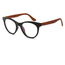 OEM custom private label optical cat eye wooden temple tr90 glasses
