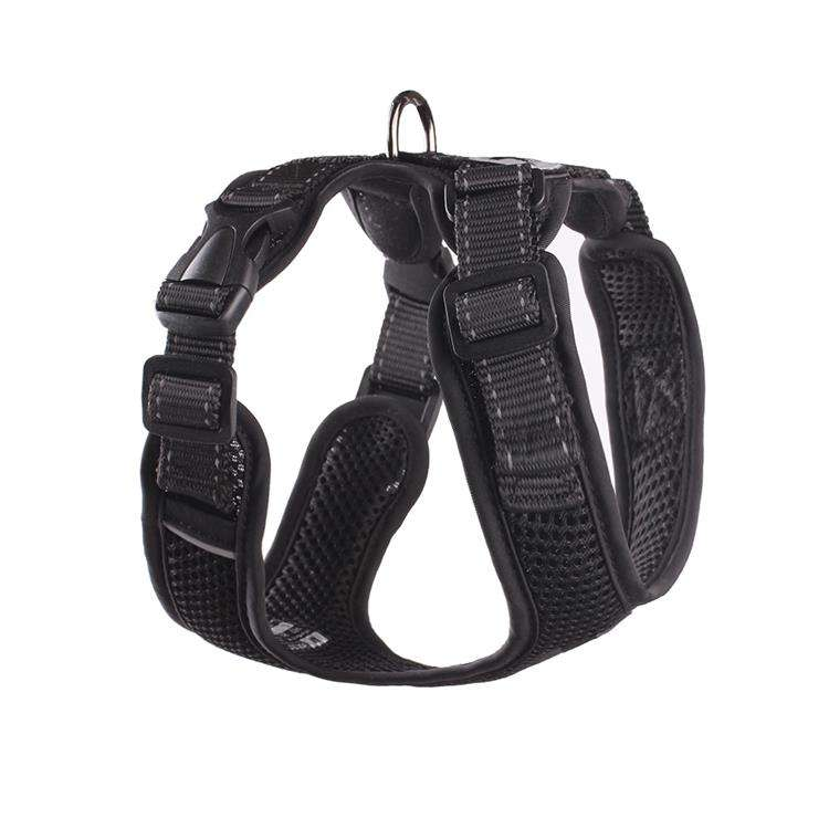 Concurrerende Prijs Soft Air Mesh Geen Pull Stijlvolle Balance Black Bondage Comfortabele Luxe Hond Harnas