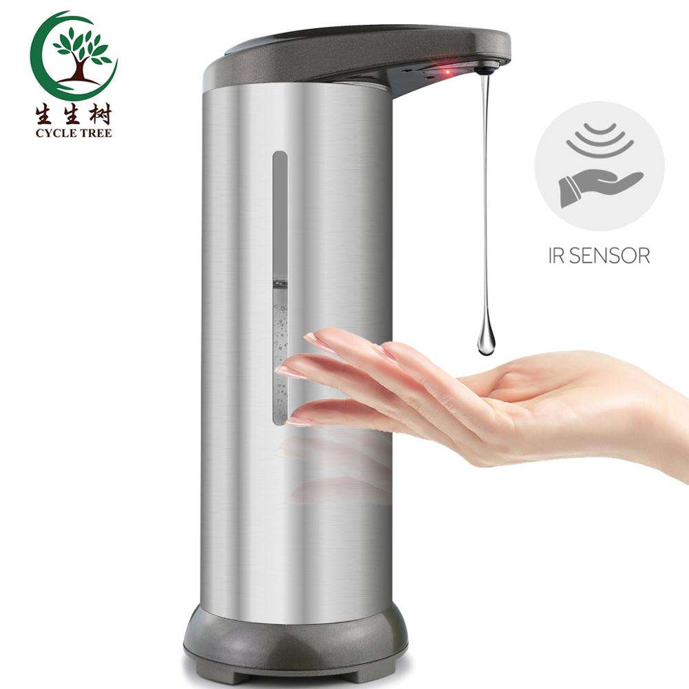 China Battery Operated Stainless Steel Liquid Infrared Sensor Hand Touchless Automatic Soap Dispenser With Visible Window