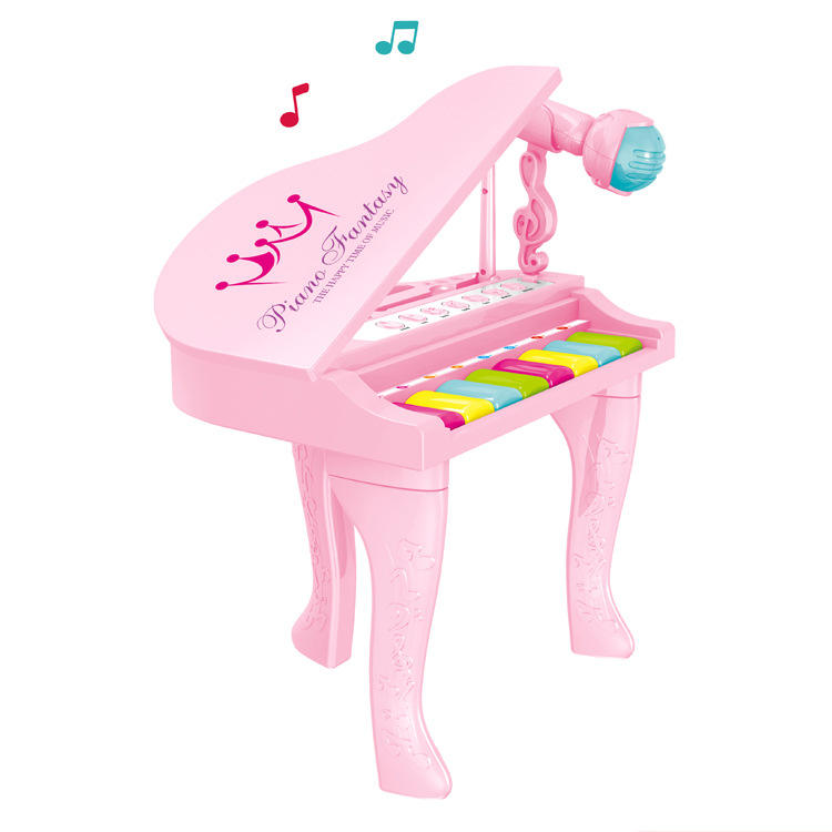 8 chaves Grand <span class=keywords><strong>Piano</strong></span> de Brinquedo Musical <span class=keywords><strong>Elétrico</strong></span> Com Microfone