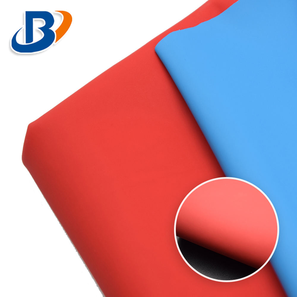 Matte surface Smooth Plain Synthetic PU leather fabric