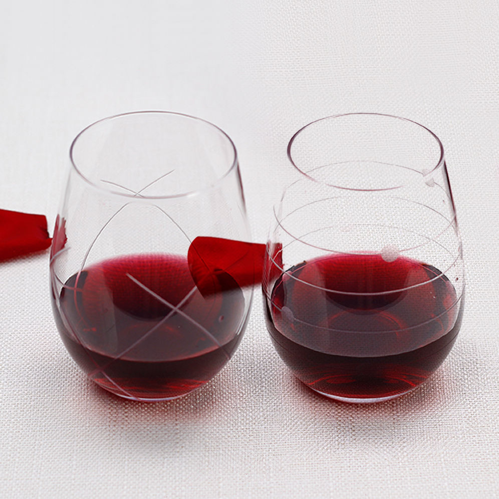 Hot selling product stemless wine tumbler brandy glasses glass set