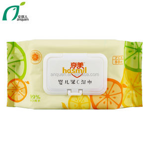 Custom household Skin Care Eco-friendly femine baby wet wipes baby vitamin C wet tissue with OEM service