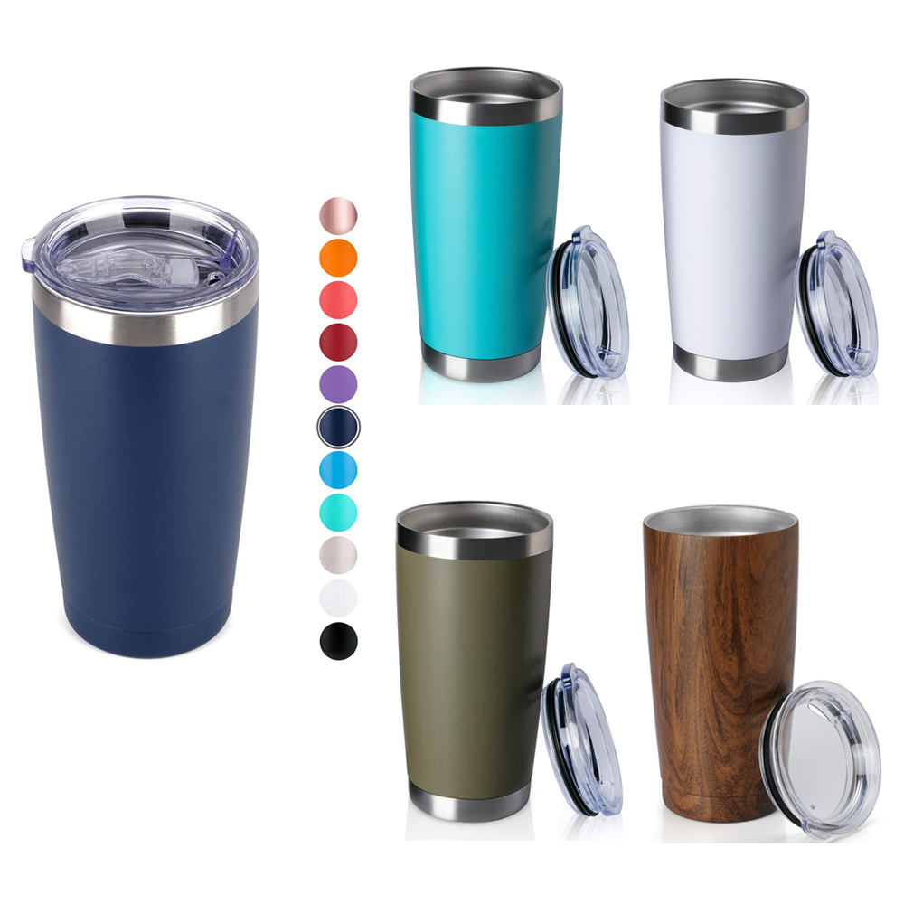 Wholesale Double Wall 20 Oz Stainless Steel Vacuum Insulated Pink Tumbler Cups With Lid With Straw