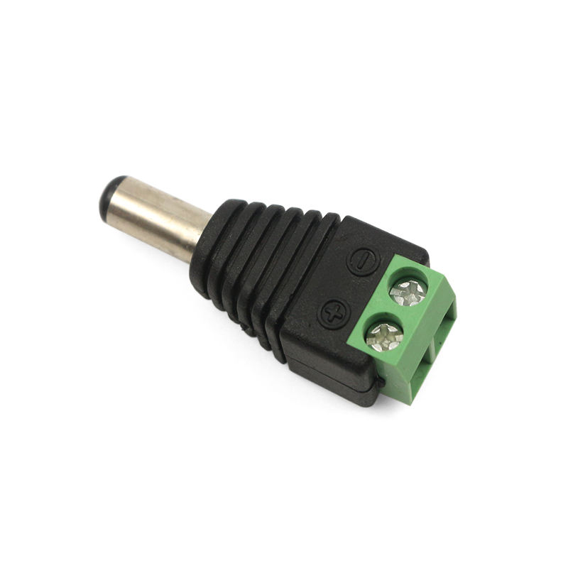 Rohs [ Plug Dc Connector ] Screw Plug Adapter Cord Female 2 Pin 12V Male Power Jack DC Connector With CE FCC ROHS For CCTV Accessories