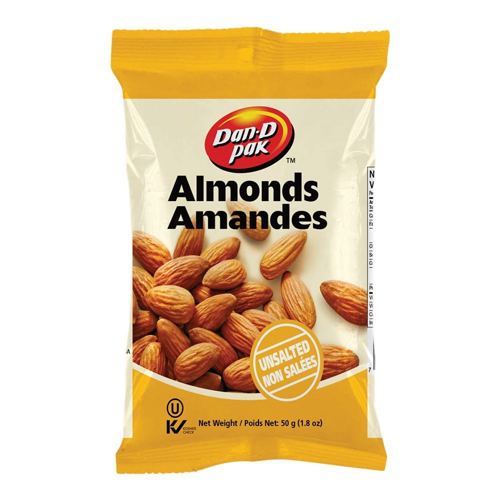Vietnamese Organic Almonds Unsated With 50g Vietnam Pack Style Packaging Grown Raw