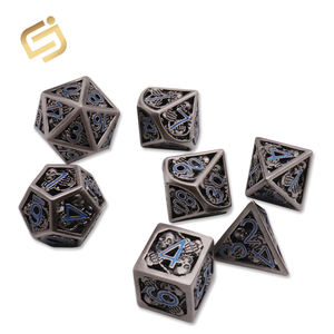 Factory Hot Sale Custom made Dungeons and Dragons and Board Game DND Metal Dice
