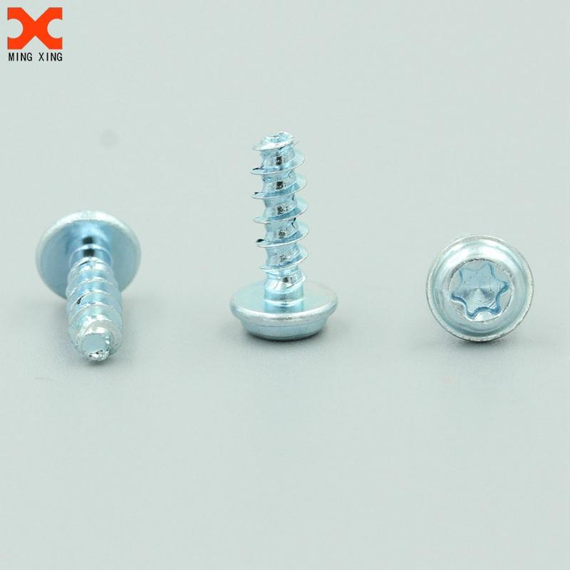 Stainless steel pt screws for plastic zinc plated cross recessed pan head screw