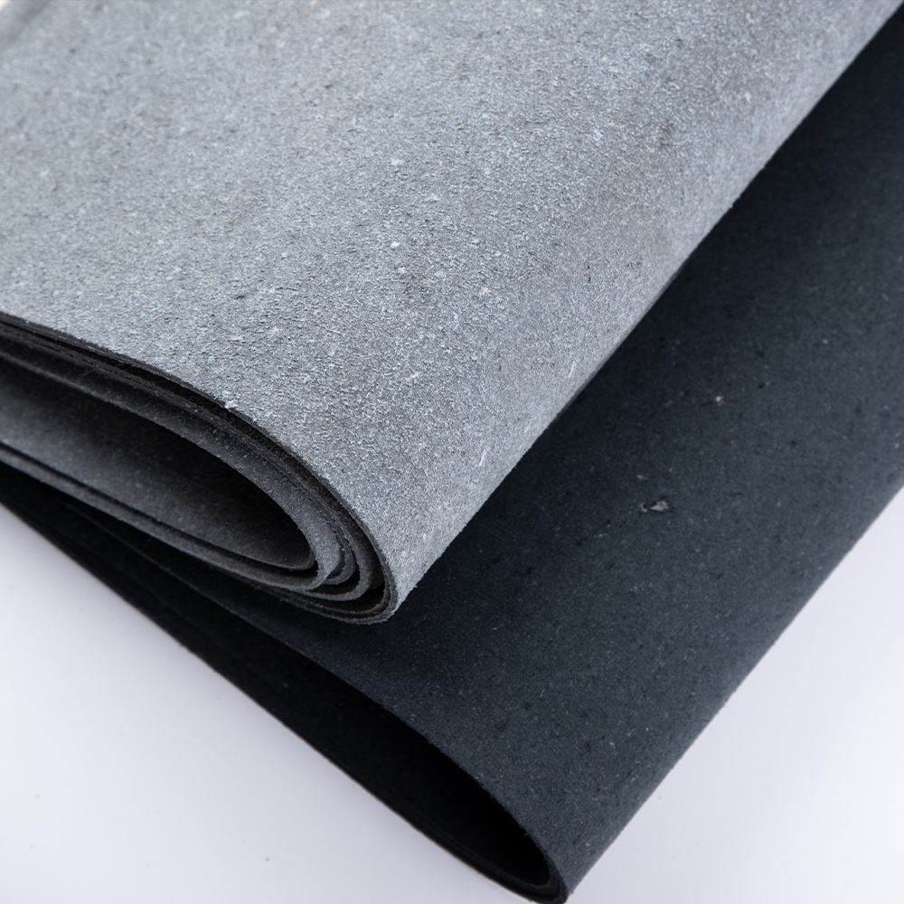 bonded leather Black Recycled leather sole for belt Recycled leather base