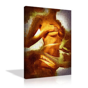 Sexy Girl Nude Painting Wall Art Modern Abstract Woman Oil Painting Print on Canvas For Home Decor Bedroom