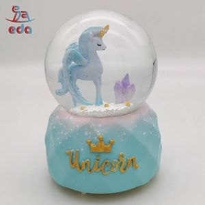Mysterio Unicorn Drifting Snow Music Box Crystal ball Glass For valentine gift birthday gift surprise gift Toy