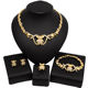 Big Teddy Bear I Love You Hug and Kiss Necklace Jewelry Set 18k Gold Plated Fashion Xoxo Latest Models Wedding Jewellery Sets