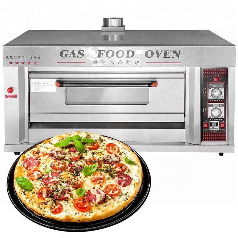 Yoslon YMQ-20 Gas Bakery Pizza Oven Bread Baking Machine Commercial Deck Oven/