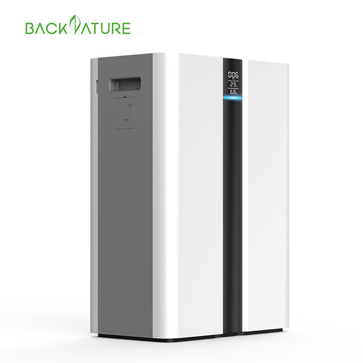 600 m3/h Intelligent Smoking Filter Pm2.5 Ionic Air Cleaner Remove Formaldehyde Home Ionic Air Purifier With Hepa filter