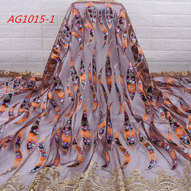 1705 African Printed Wax Mix Embroidered Lace Latest Design Hollandis Wax Mix Lace Fabric African
