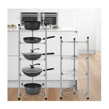 Home Portable 2/3/4/5 Layers Kitchen Pan Organizer Stainless Hanging Pot Rack