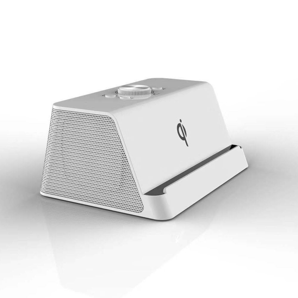 Qi draadloze oplader speaker 20W Draadloze Computer Speaker HIFI Lossless Sound Box telefoon houder power bank speaker MICROFOON MVO chip