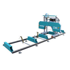 SW26 Log Timber Wood horizontal Portable Log Cutting Saw Machine