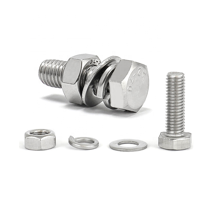 stainless steel m27 hex head bolt Fastener DIN931 Bolzen all style of screw 16mm m40 High strength TC bolt nut washer A358 Noten