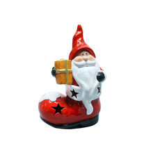 Santa Claus Snowman Ornaments Tealight Holder Candle Holder Christmas Home Decoration For Kid