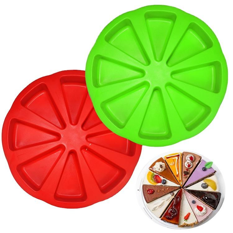 Food grade silicone Pasteleria 8 cavity round cake pan Scone baking tools and supplies cake mold