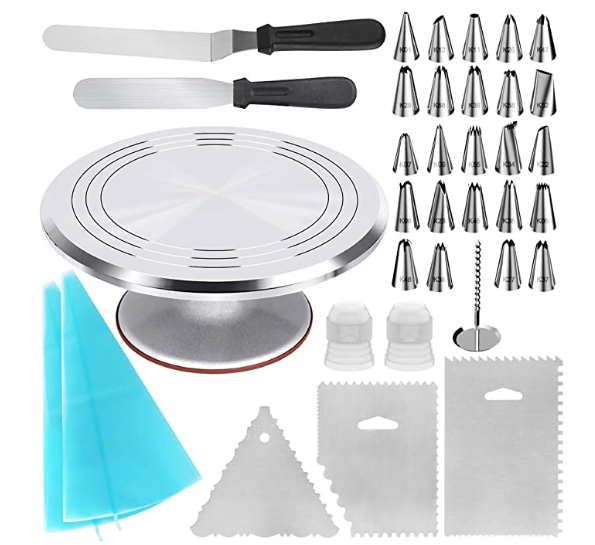 High Quality Cake Baking, Making Tools Rotating Turntable Supplies Cake Stand set