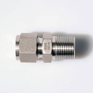 SS316 Stainless Steel Compression Metric Double Ferrule Tube Fittings Male Thread Thermocouple Connector
