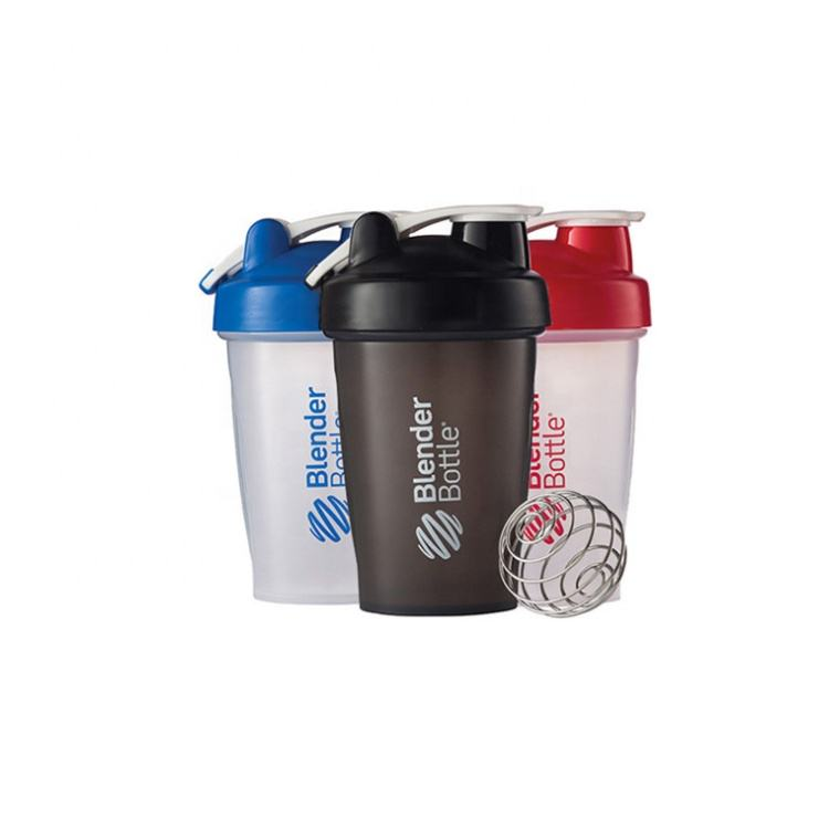 Custom Eco Friendly Plastic Sport Blender GYM Bottles Mix Water Protein Shaker 400ml Free Sample