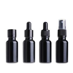 15ml 30ml 50ml 100ml black glass essential oil bottle with l